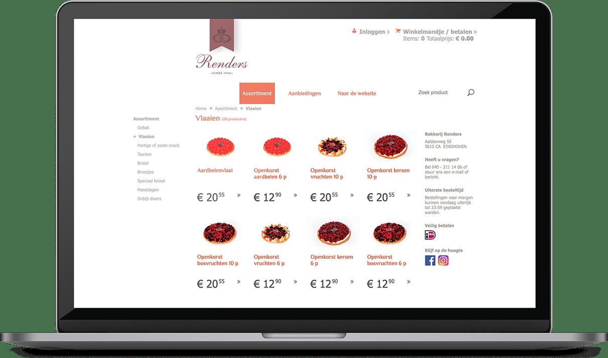 Bakkerij Renders Webwinkel